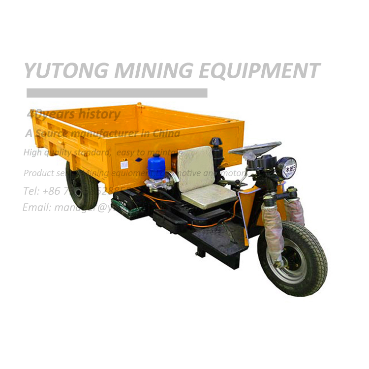 Mining electric tricycle for transportation